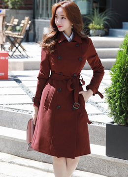 London Style Double-Breasted Trench Coat, Styleonme