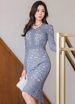 Full Lace Slim Fit Dress, Styleonme