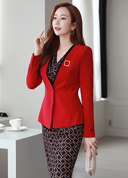 Slim Fit Collarless Jacket, Styleonme