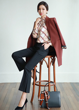 Roll-Up Sleeve Long Coat, Styleonme