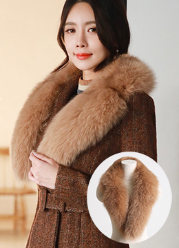 Fox Fur Detachable Collar, Styleonme