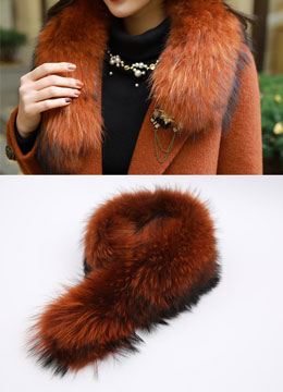Brown Mix Color Raccon Fur, Styleonme