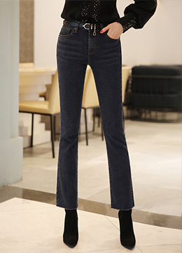 Indigo Blue Wash Boot Cut Jeans, Styleonme