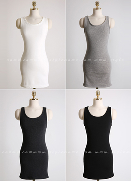 Soft Fleece Long Tank Top, Styleonme