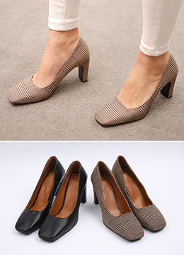 Squared Toe High Heels, Styleonme