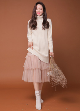 Long Tulle Skirt, Styleonme