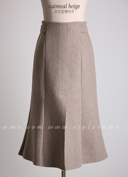 Front Slit Long A-Line Skirt, Styleonme