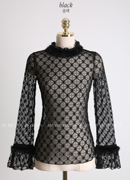 Mink Fur See-through Blouse, Styleonme