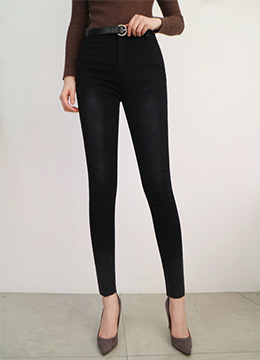 Stretchy Fleece-lined Skinny Jeans, Styleonme