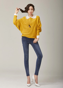 Dolman Sleeve Knit Top, Styleonme