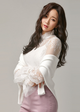 See-through Full Lace Bell Sleeve Blouse, Styleonme