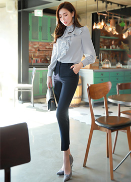 Ankle-length Skinny Pants, Styleonme