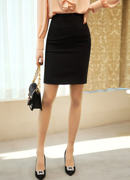 Incision Detail H-Line Skirt, Styleonme