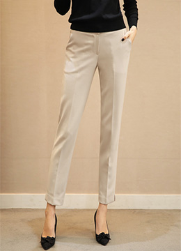 Relaxed Slim Fit Slacks, Styleonme