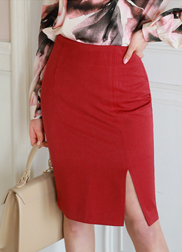 Side Slit Pencil Skirt, Styleonme