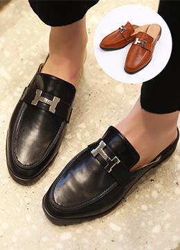 H-Shaped Buckle Loafers, Styleonme