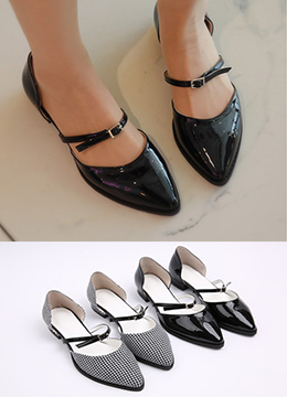 Front Strap Flat Shoes, Styleonme