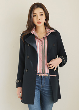 [Weekly Best]Pinstripe Collared Blouse, Styleonme