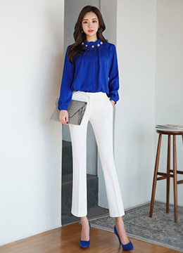 Perfect Fit Boot-Cut Slacks, Styleonme
