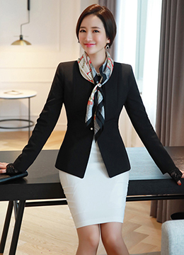 Pearl Button Slim Fit Collarless Jacket, Styleonme