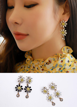 Daisy Drop Earrings, Styleonme