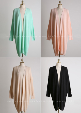Sprint Color Loose Fit Long Cardigan, Styleonme