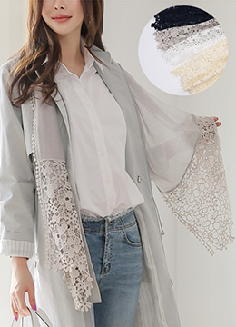 Floral Lace Muffler, Styleonme