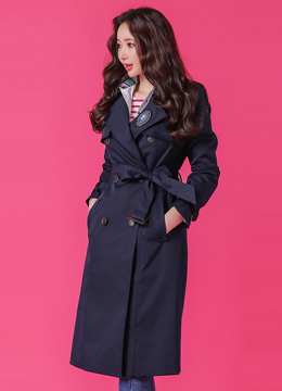 High Quality Double-Breasted Trench Coat, Styleonme