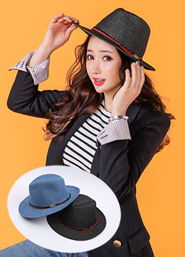 Denim Fedora Hat, Styleonme