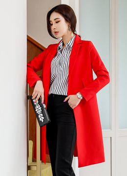 Double Pocket Tailored Long Jacket, Styleonme