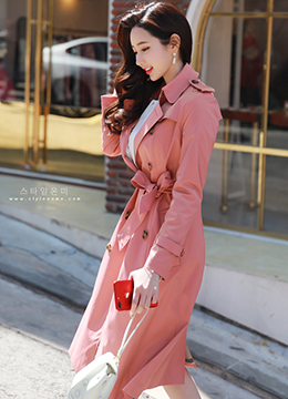 Perfect Fit Double-Breasted Trench Coat, Styleonme