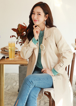 Loose Fit Long Trench Coat, Styleonme