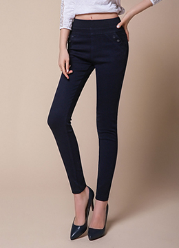 Slim Waist Band Skinny Pants, Styleonme