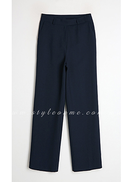 Straight Wide Leg Slacks, Styleonme
