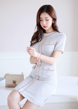 Luxury Tweed Dress, Styleonme
