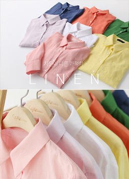 Dailywear Linen Collared Shirt, Styleonme