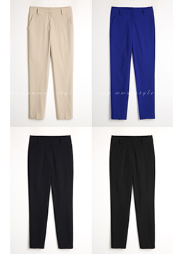 Ankle-length Slim Fit Slacks, Styleonme
