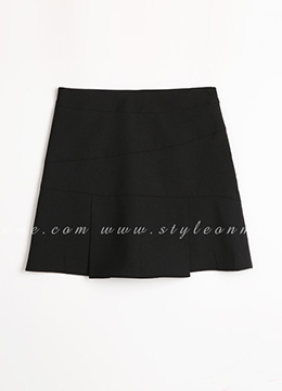 Pleat Detail Mini Skort, Styleonme