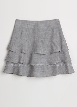 Three Tier Ruffle Skort, Styleonme