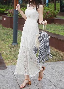 Venus Silhouette Maxi Knit Dress, Styleonme