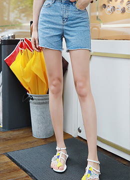 Dailywear Basic Denim Shorts, Styleonme