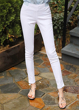 Color Banding Skinny Pants, Styleonme