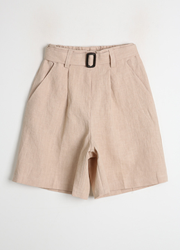 Linen Belted Shorts, Styleonme