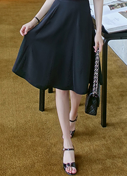 Knee-length Flared Skirt, Styleonme