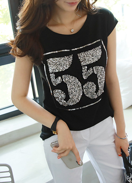 55Sequined T-shirt, Styleonme