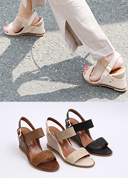 Braided Wedge Sandals, Styleonme