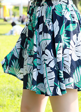 Tropical Print Summer Shorts, Styleonme