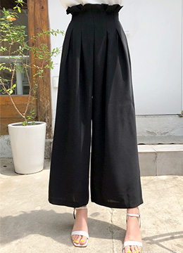 High-Waisted Wide Leg Pants, Styleonme
