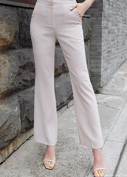Cool Summer Boot-Cut Slacks, Styleonme