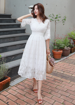 Full Lace Long Dress, Styleonme
